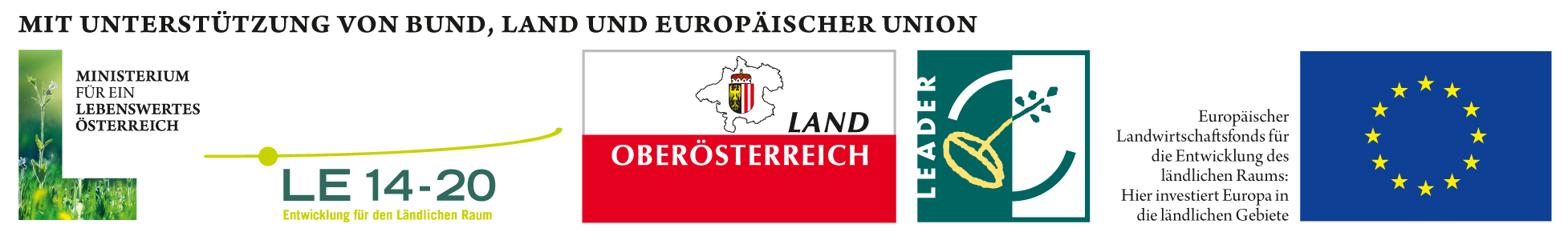 Logoleiste LFW Bund Land LEADER EU