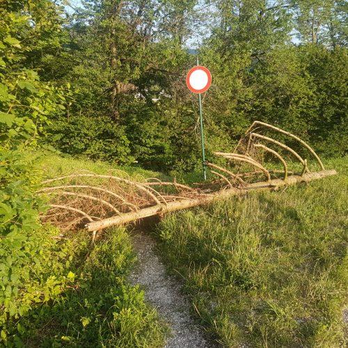 Grillparz Kirchdorf Wanderweg Fahrverbot